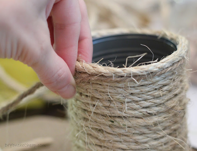 Rope & Twine Tin Can Storage Containers