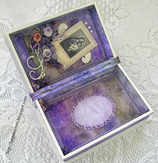 Caixa MDF decorada parte interna