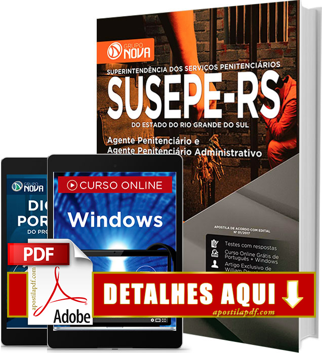 Apostila SUSEPE 2017 PDF Impressa Agente Penitenciário