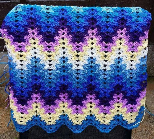 Grandma Spiked My Ripple Blanket - Free Pattern