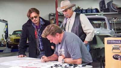 Johnny Depp, seu sogro David Amber e Chip Foose - Divulgação