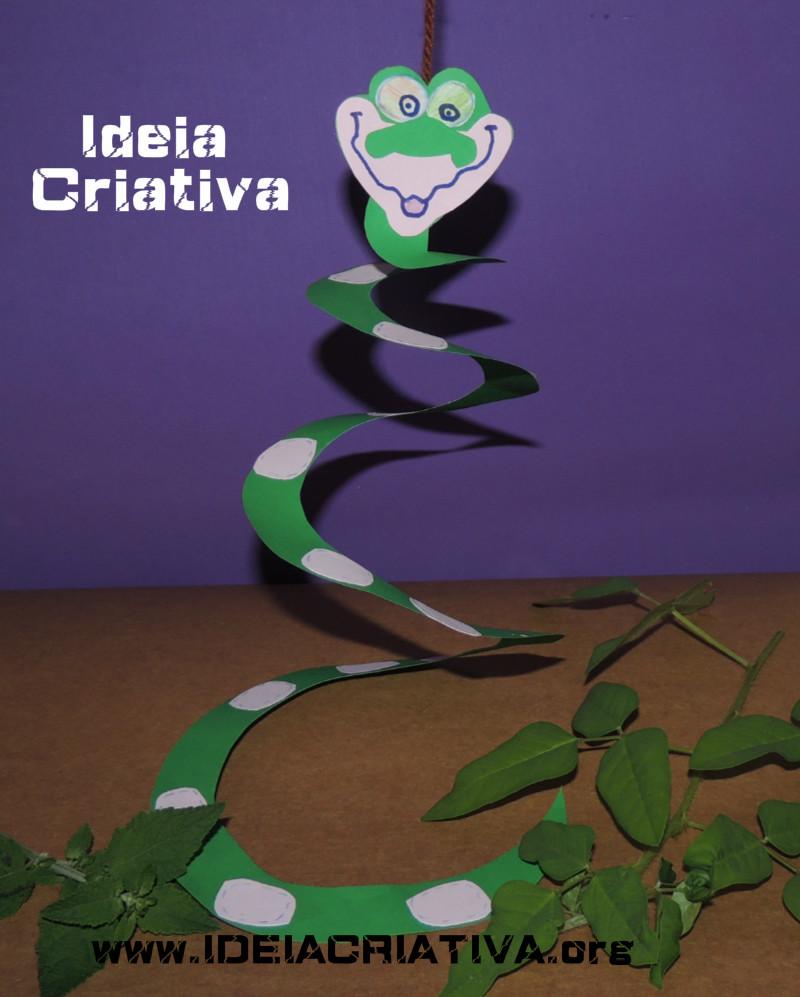 Atividade Cobra Kaa Mogli e Canção Popular A Cobra não tem Pé Como fazer uma cobra com cartolina