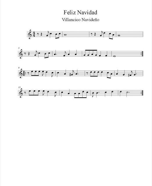 Villancico - Feliz Navidad partituras