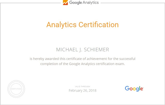 Google Analytics Academy Certification Answers Certificate