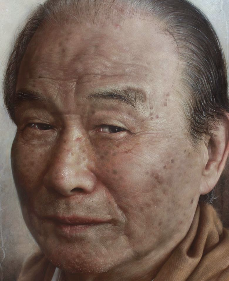 06-Painting-of-Grandpa-Joongwon-Charles-Jeong-Hyper-Realistic-Paintings-of-the-Past-www-designstack-co
