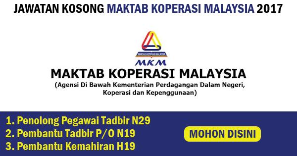 jawatan kosong maktab koperasi malaysia mkb