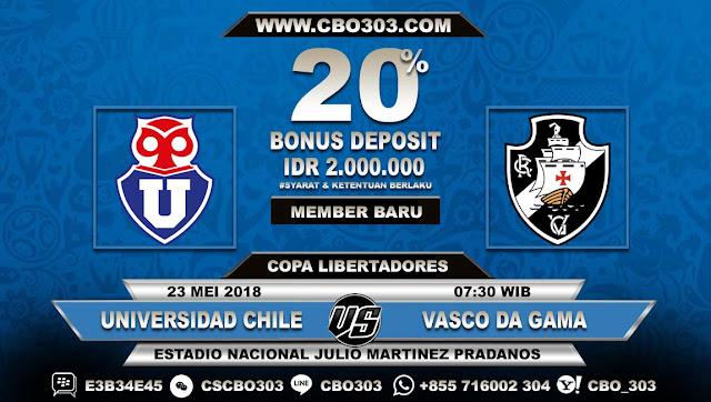 Prediksi Bola Universidad Chile VS Vasco da Gama 23 Mei 2018
