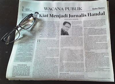 [ESAI] KIAT MENJADI JURNALIS HANDAL (Radar Banten, 03 Maret 2017)