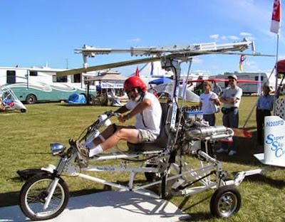 Moto creativa voladora