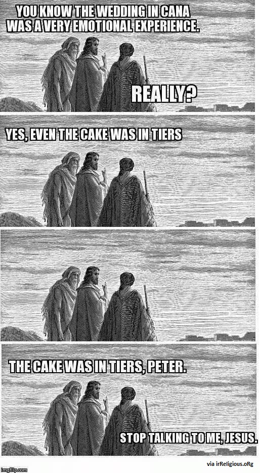 Funny punning Jesus meme picture
