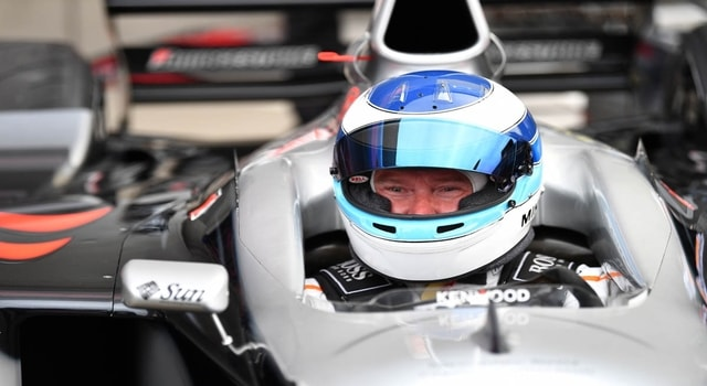 Mika Hakkinen returns to the track again on the McLaren 720 SGT3