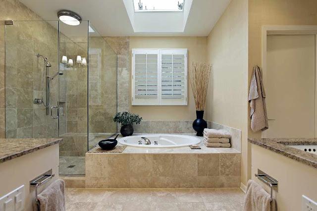 Contoh inspirasi pemilihan warna cat rumah minimalis untuk desain kamar mandi