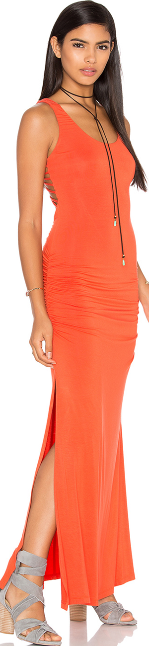 SKY Shainnon Dress shown in Coral
