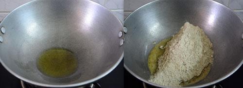 roasting bajra flour