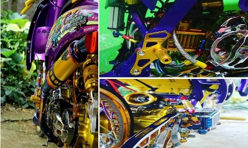 Ide Modifikasi Motor Honda Scoopy Warna Ungu