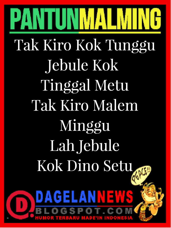 PANTUN BAHASA JAWA MALAM MINGGU KELABU  DAGELAN NEWS