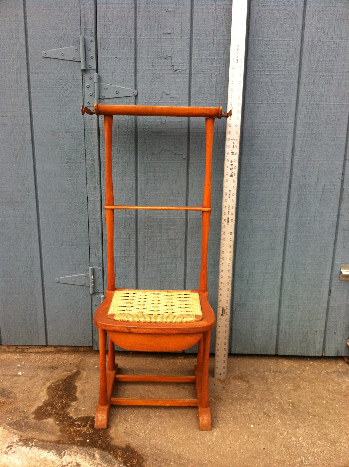 Mens Valet Chair Desk Heater Sold Vintage Italian Mid Century With Rush Seat