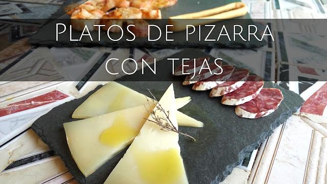 Nanazar platos de pizarra con tejas - Teja de pizarra ...