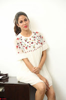 Lavanya Tripathi in Summer Style Spicy Short White Dress at her Interview  Exclusive 129.JPG