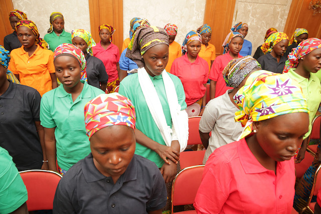 Release of Chibok girls anniversary gift, says Buhari