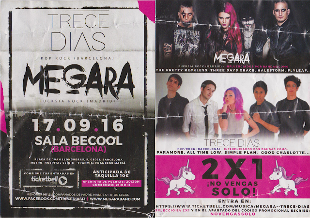 Megara Trece Dias Sala BeCool Barcelona 2016