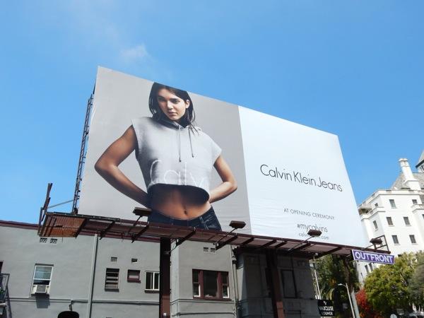 963e1f3d74e3 Kendall Jenner Calvin Klein Jeans S15 billboard