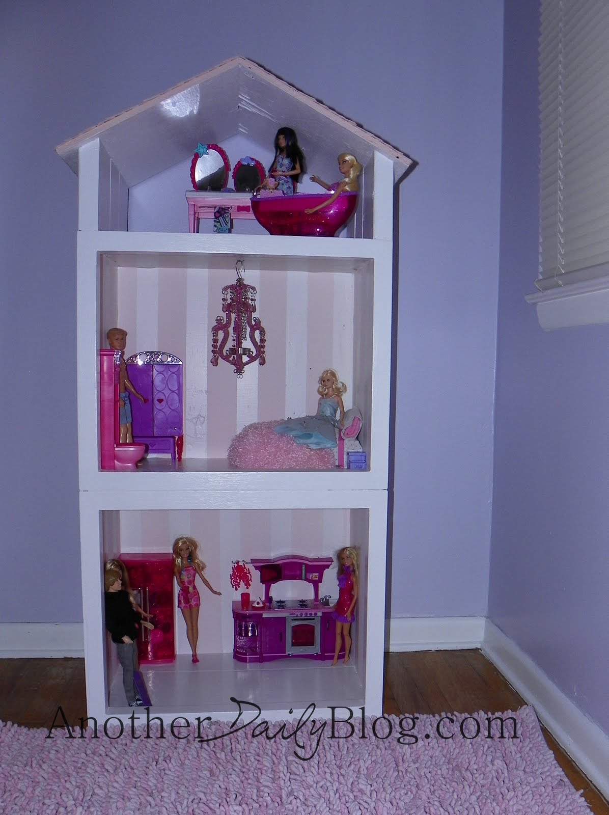 Another Daily Blog Homemade Barbie House Out Of Re Purposed 70 S