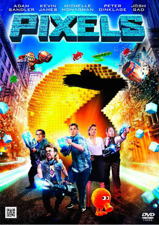 Pixels 2015 Hindi English BRRip 300mb Movie Dual Audio