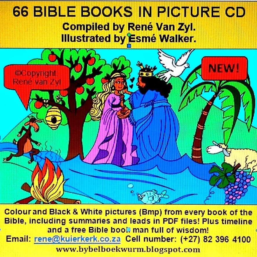 DIE BYBELBOEKWURM : 66 BIBLE BOOKS IN PICTURES
