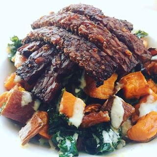vegan grain bowl from Chaco Canyon Organic Café