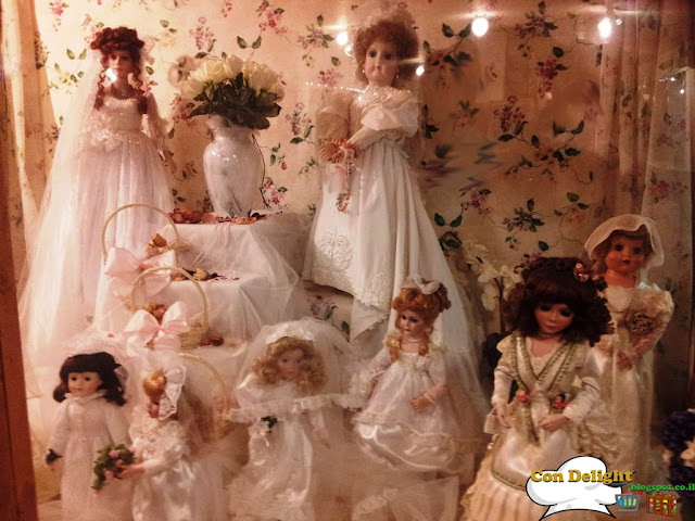 Dolls with wedding gowns