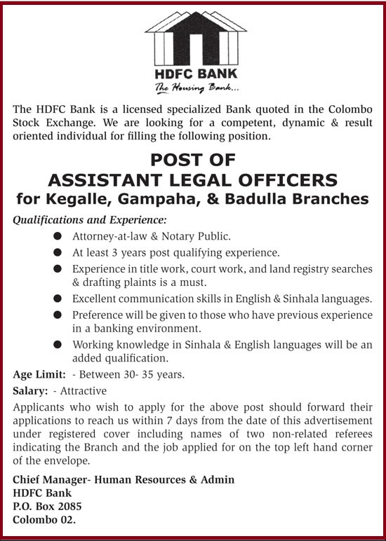 Assistant Legal Officers