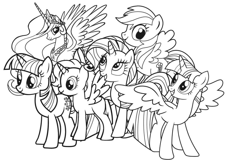 Daftar Gambar My Little Pony Untuk Mewarnai