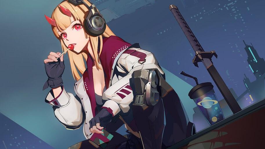 Anime Girl Cyberpunk Sci Fi 4k Wallpaper 299