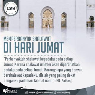 Perbanyak Sholawat di Hari Jumat - Qoutes - Kajian Islam Tarakan