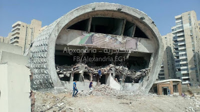 "Demolishing the famous EL-Salam theater in Alexandria ""Facebook"""