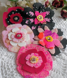 scrapbook flowers felt or fabric