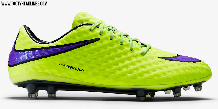 sports shoes 03ee2 c051e Launched in May 2013, the Nike Hypervenom Phantom Cleat uses a soft and  flexible NikeSkin upper material. The new Hi-Vis Yellow Nike Hypervenom  Intense Heat ...