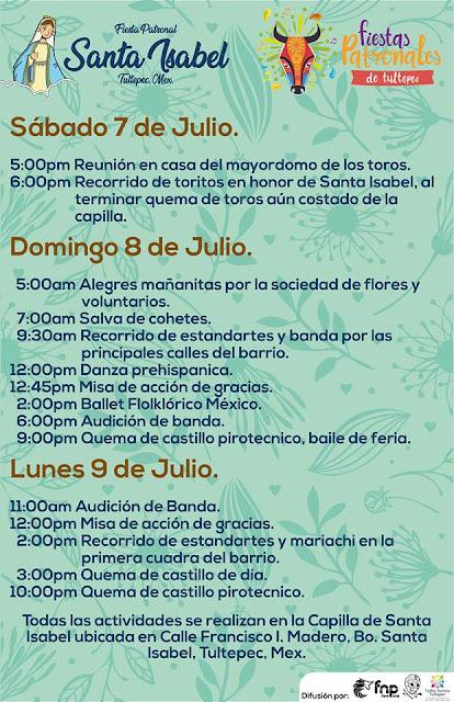 fiestas patronales tultepec 2018
