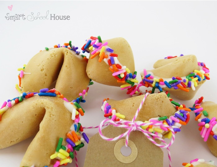 making fortune cookies with sprinkles