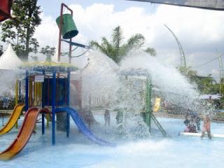 Fountain waterpark