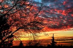 Farbe am Himmel...