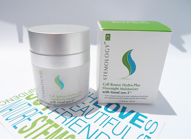Stemology Cell Renew Hydro - Plus Overnight Moisturizer stemology skin care products review blogger liz breygel anti aging face cream gel