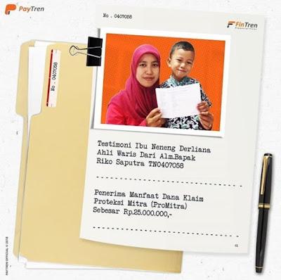 Testimoni FinTren ProMitra memberi manfaat kepada yang ditinggalkan