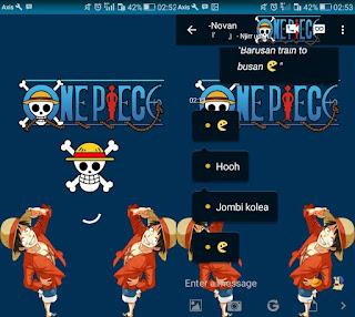 BBM Mod Tema One Piece Apk Versi 3.0.1.25