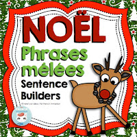 French Christmas Scrambled Sentences: phrases mêlées NOËL
