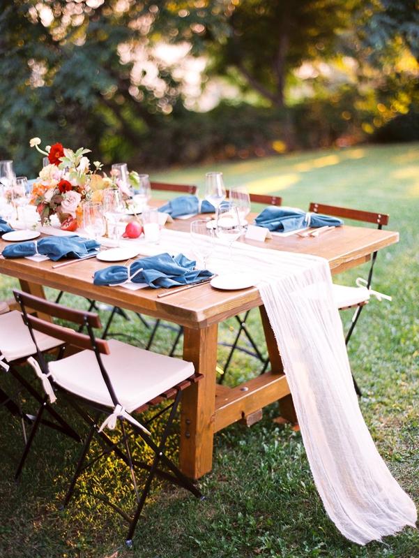 boda ecléctica con detalles azul niágara chicanddeco