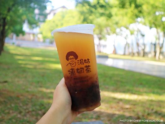 IMG 4173 - 台中龍井│湯姑凍奶茶。親切爆炸頭阿姑的獨家特調。除了茶凍還有外面都喝不到的黑糖凍