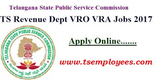 Telangana TS VRO Notification 2017 TSPSC VRO Online Application Exam Dates