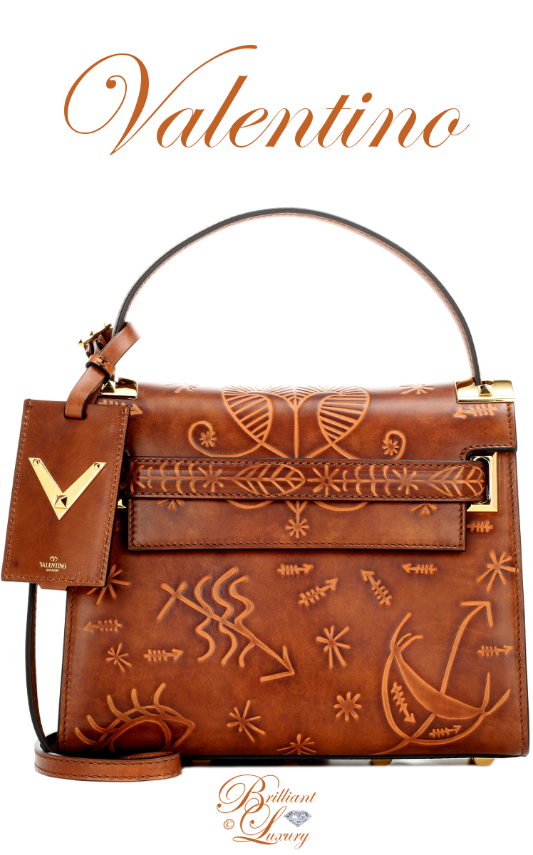 Brilliant Luxury ♦ Valentino My Rockstud Small Embossed Leather Shoulder Bag